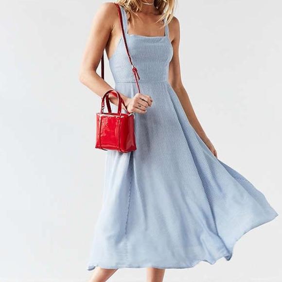 e530712b silence + noise Dresses | Urban Outfitters Stripe Midi Dress | Poshmark